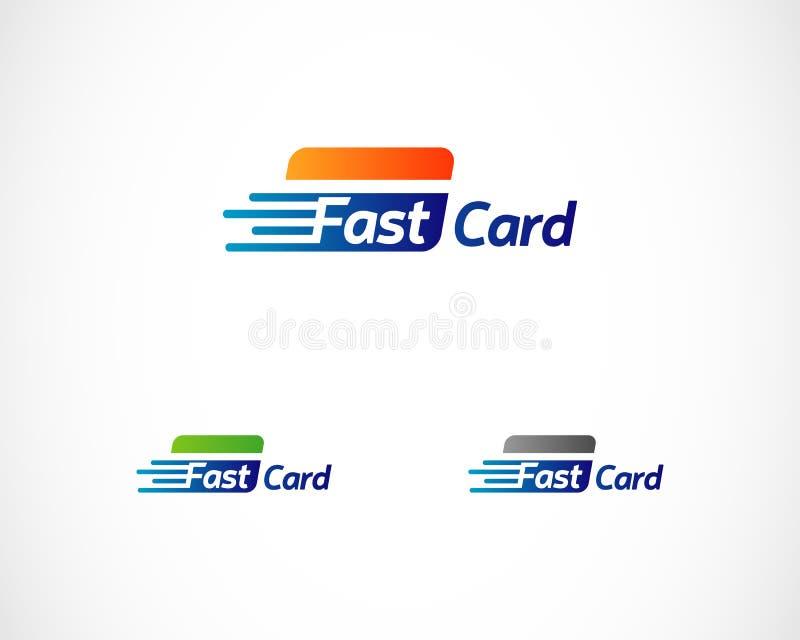 快速的卡片付款技术商标标志标志象 向量例证