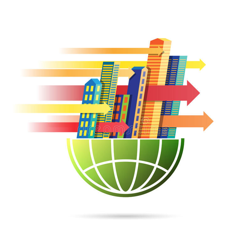 快速的国际商业步幅 库存例证