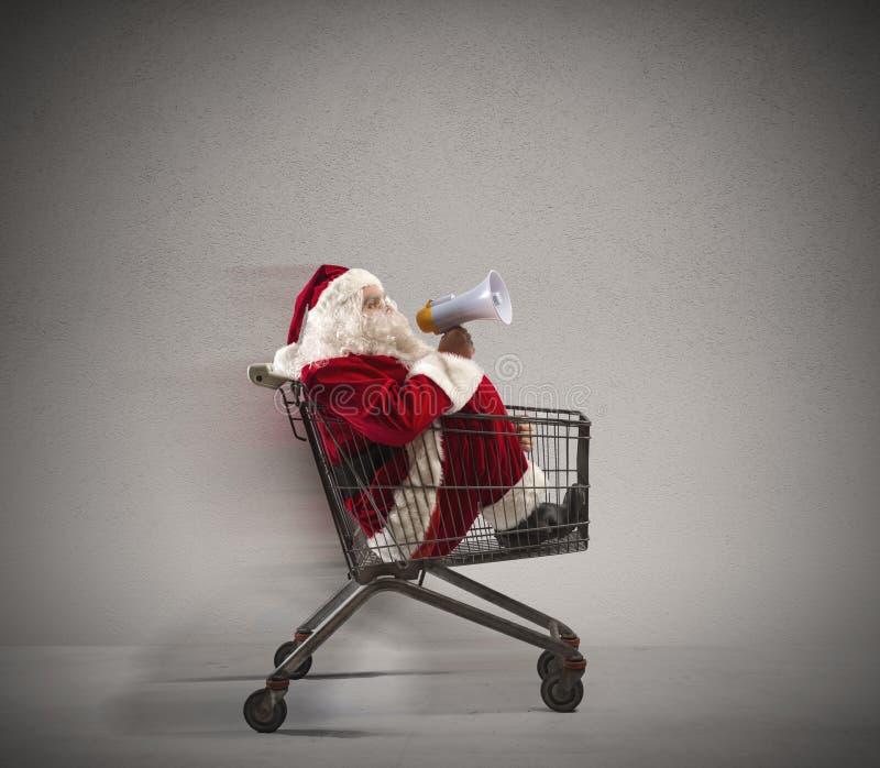 快速的圣诞老人公告 库存图片