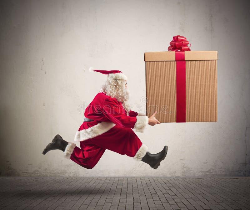快速的圣诞老人 免版税库存图片