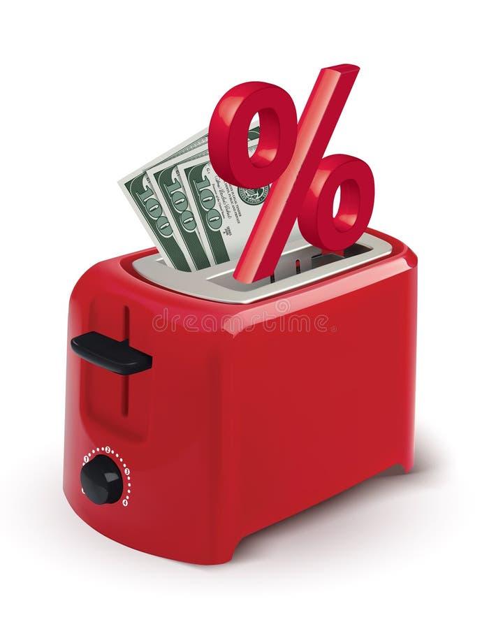 快速的贷款的概念和付款信用和堆金钱 皇族释放例证