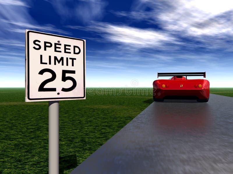 快速车4 向量例证