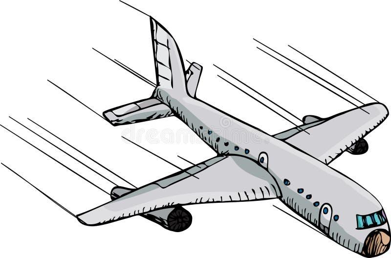 快速飞机 皇族释放例证