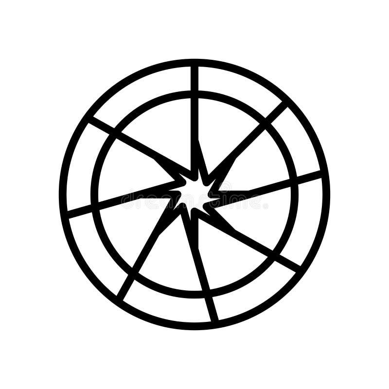 快门在白色背景隔绝的象传染媒介,关闭在线性样式的标志、线和概述元素 库存例证