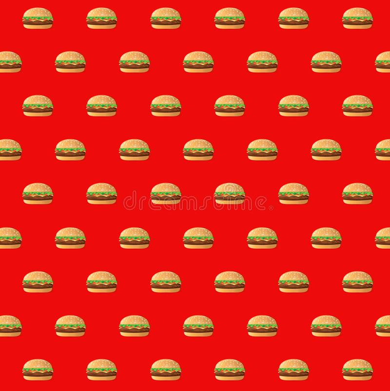 快餐乳酪汉堡样式例证设计 向量例证