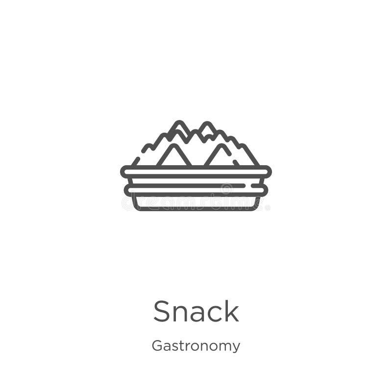快餐从美食术汇集的象传染媒介 稀薄的线快餐概述象传染媒介例证 概述,稀薄的线快餐象为 皇族释放例证