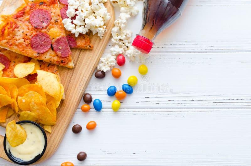 快餐和不健康的吃概念 图库摄影