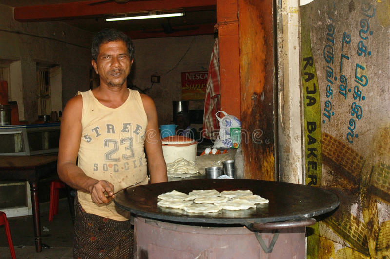快餐在印度 库存图片