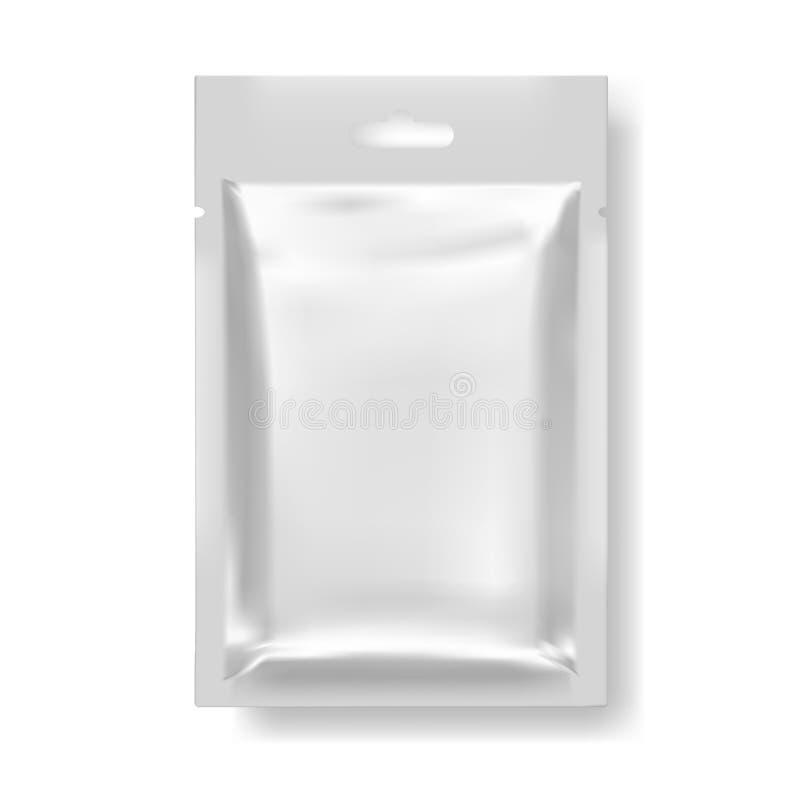 快餐或其他食物的现实空白的模板包裹 向量例证