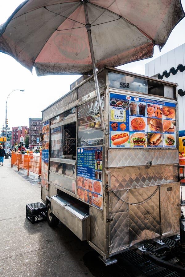 快餐推车在格林尼治村,纽约 免版税图库摄影
