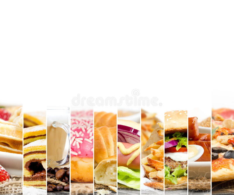 快餐混合 库存图片