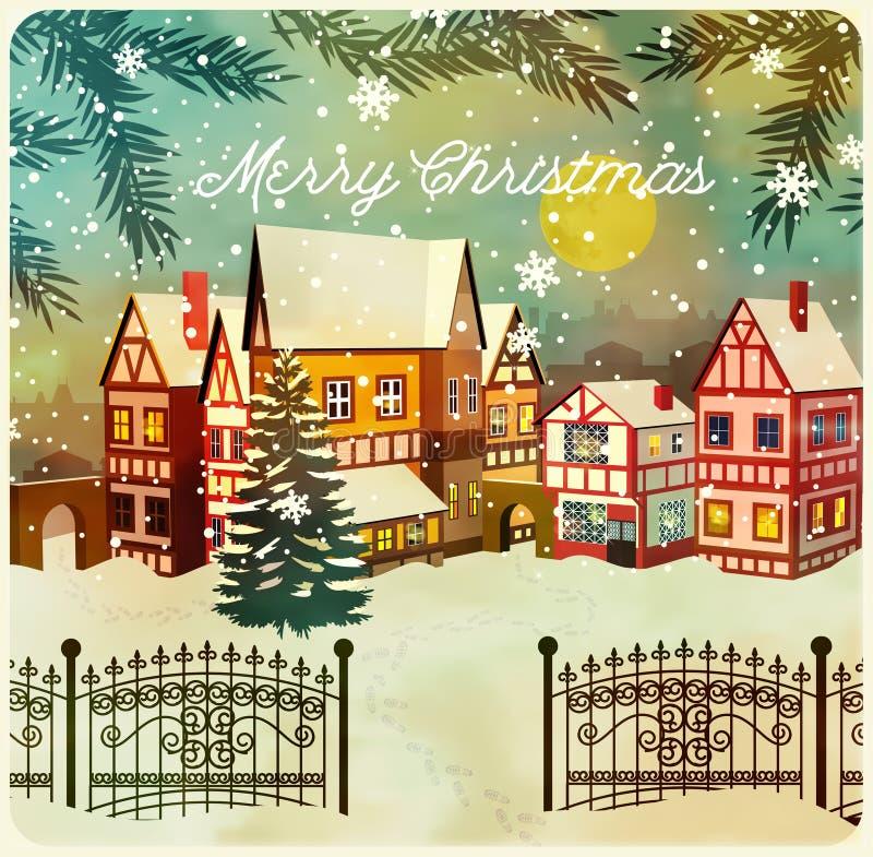 Download 快活圣诞节的例证 向量例证. 插画 包括有 问候, 房子, 背包, 向量, 冬天, 季节, 减速火箭, 结构树 - 62533467