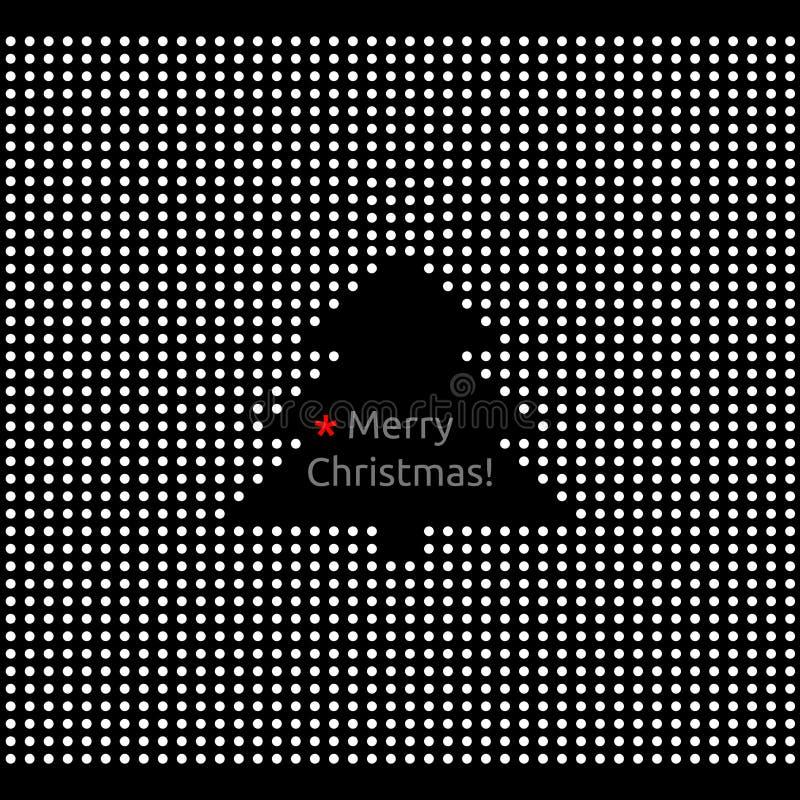 快活抽象看板卡圣诞节的问候 库存例证