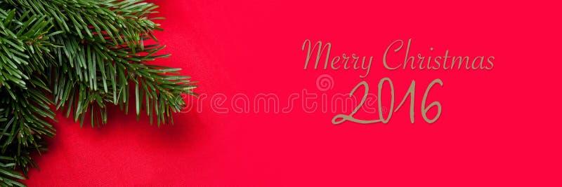 快活横幅的圣诞节 免版税库存照片