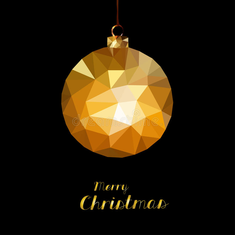 快活球的圣诞节 向量例证