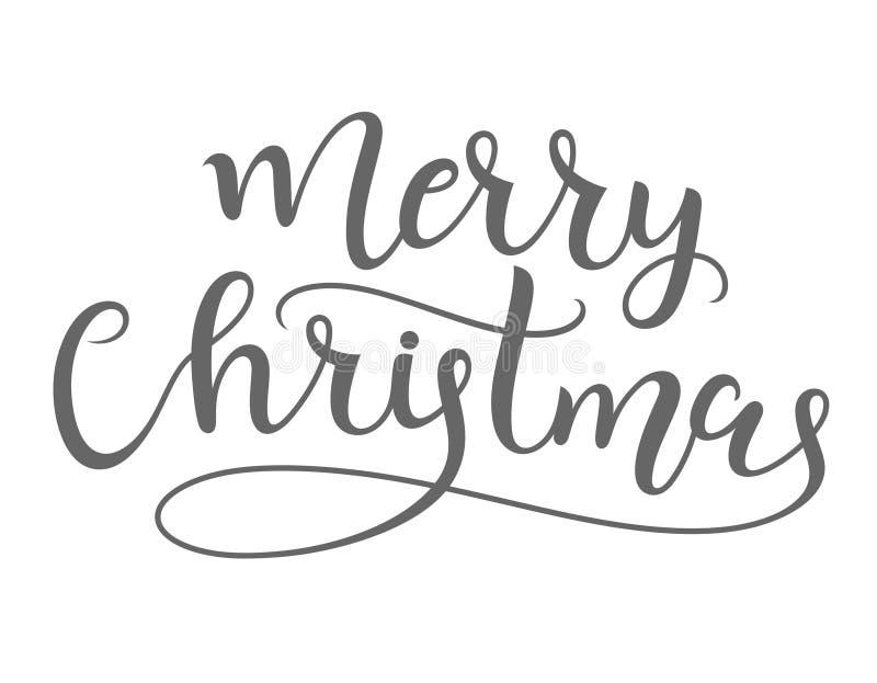 快活的圣诞节 字法 皇族释放例证