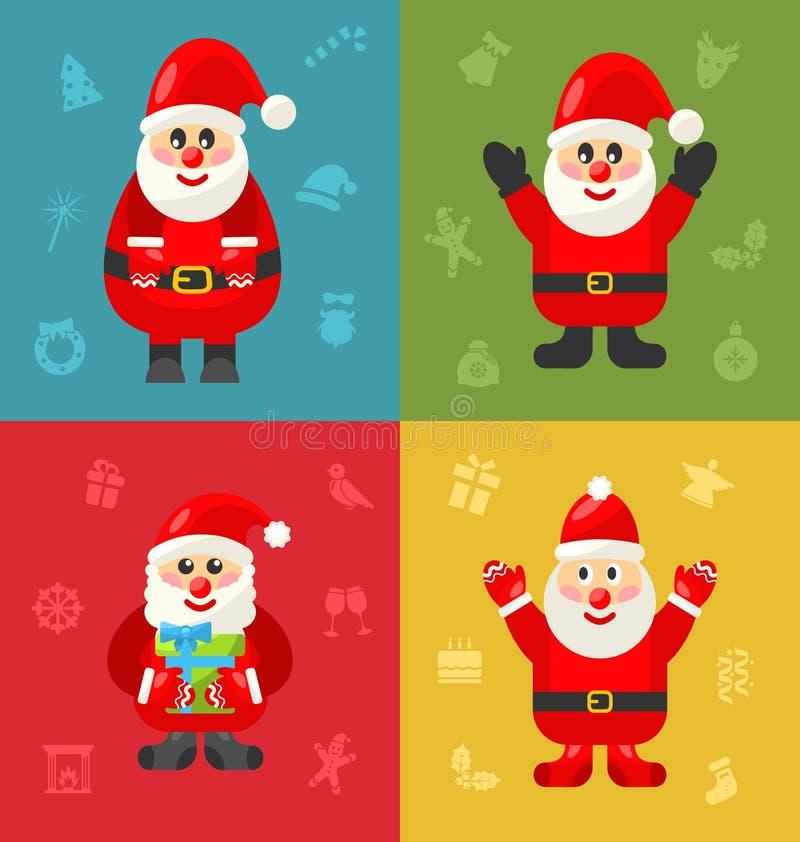 Download 快活的圣诞节阻止堆的圣诞老人 向量例证. 插画 包括有 庆祝, 存在, 例证, 圣诞老人, 背包, 逗人喜爱 - 62529685