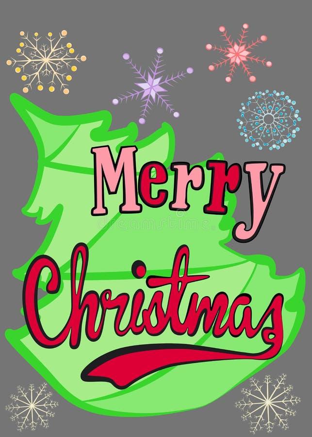 Download 快活的圣诞节 向量例证. 插画 包括有 结构树, 12月, 发狂, 看板卡, 霍莉, 字词, 艺术, 节假日 - 62536285
