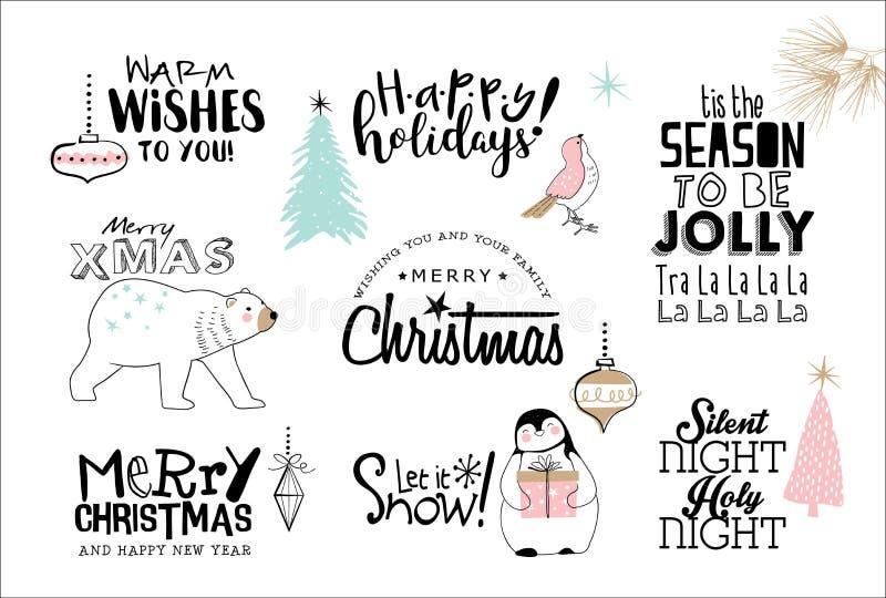 快活的圣诞节 库存例证