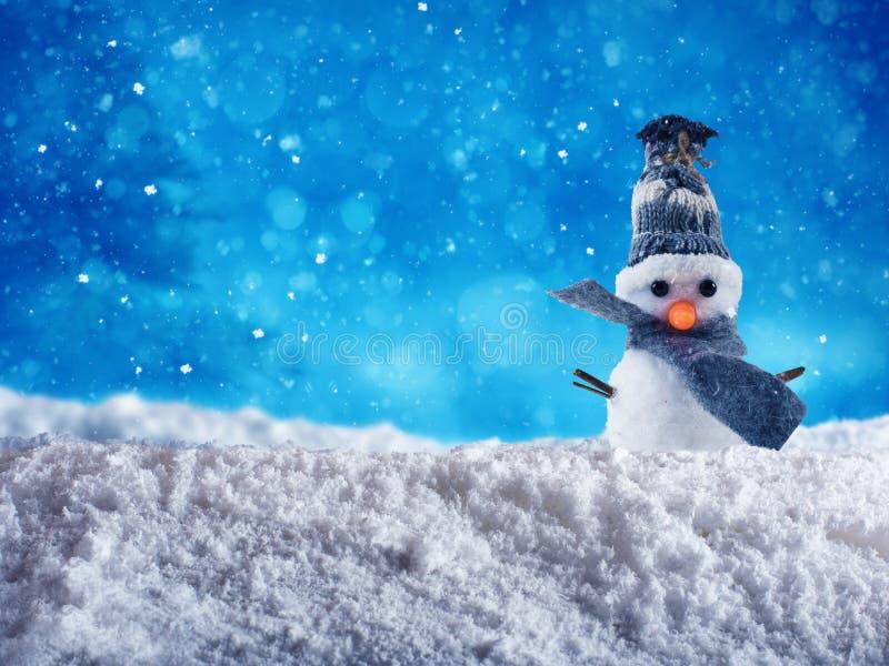 快活的xmas的雪人 免版税库存照片