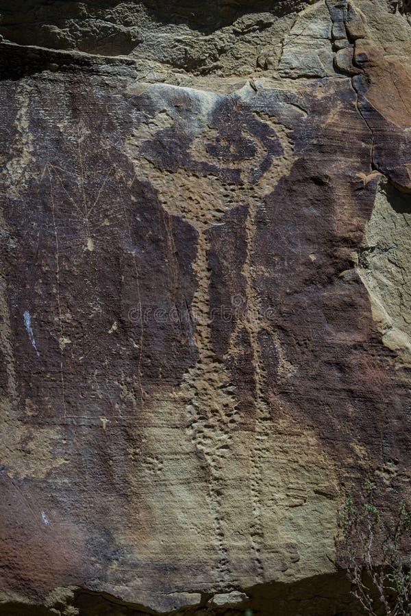 怀俄明的刻在岩石上的文字 免版税库存图片