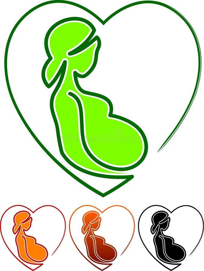 怀孕关心 库存例证