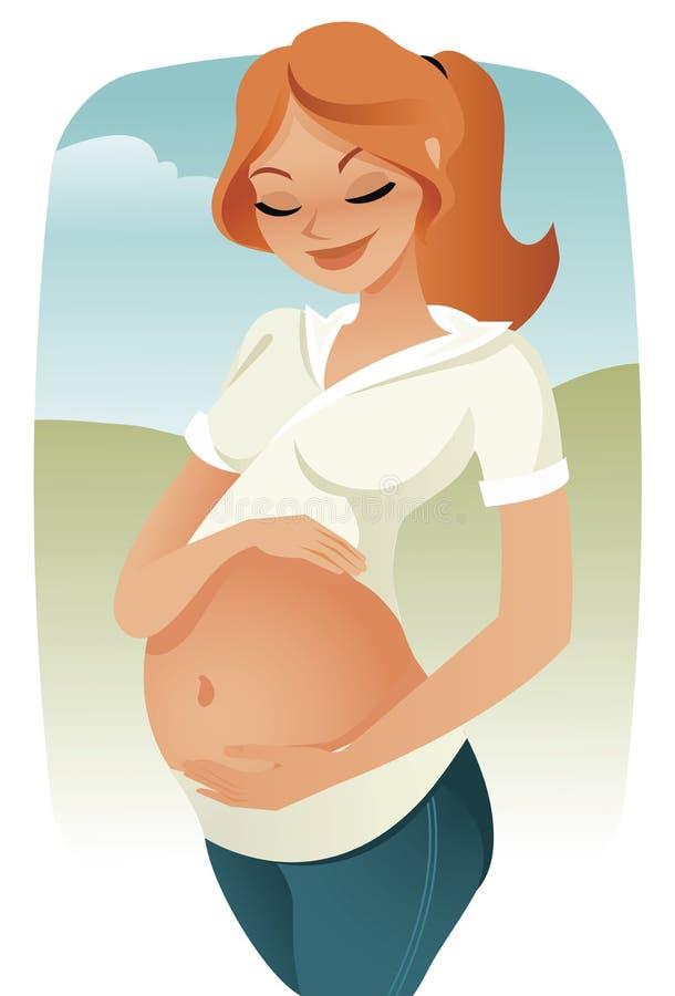 怀孕向量 向量例证