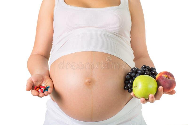 怀孕和营养,维生素 库存照片
