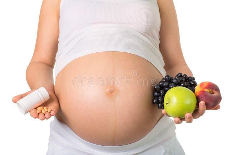 怀孕和营养,维生素 库存图片