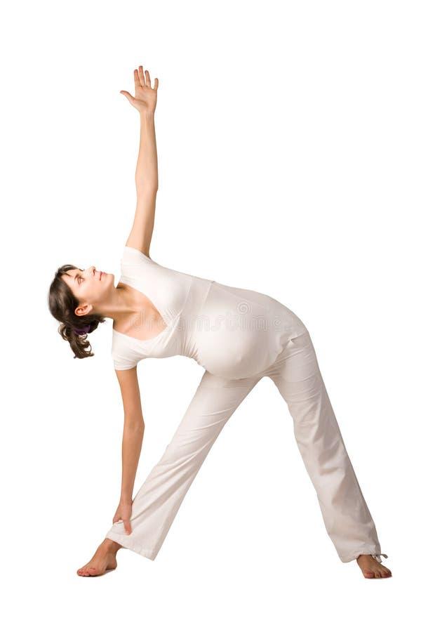 怀孕的健身 免版税图库摄影