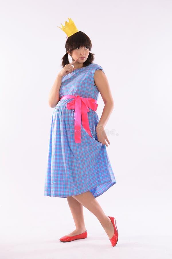 怀孕的公主年轻人 免版税库存照片