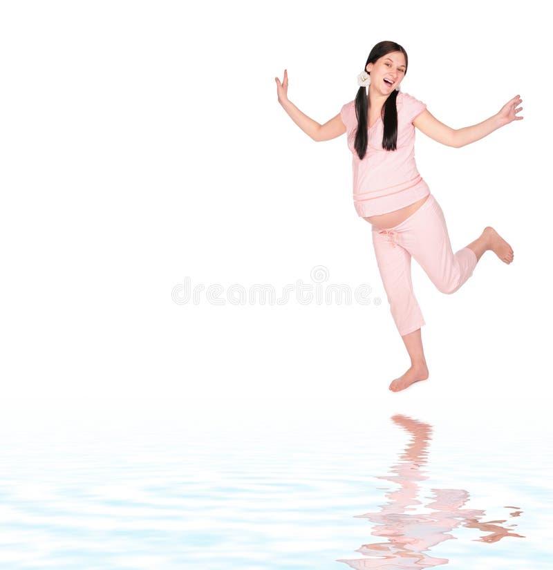 怀孕的舞女 图库摄影