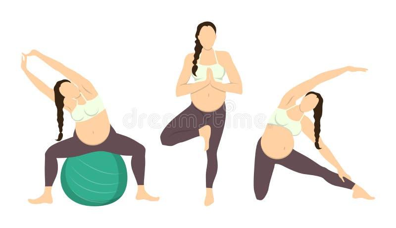 怀孕的锻炼 库存例证