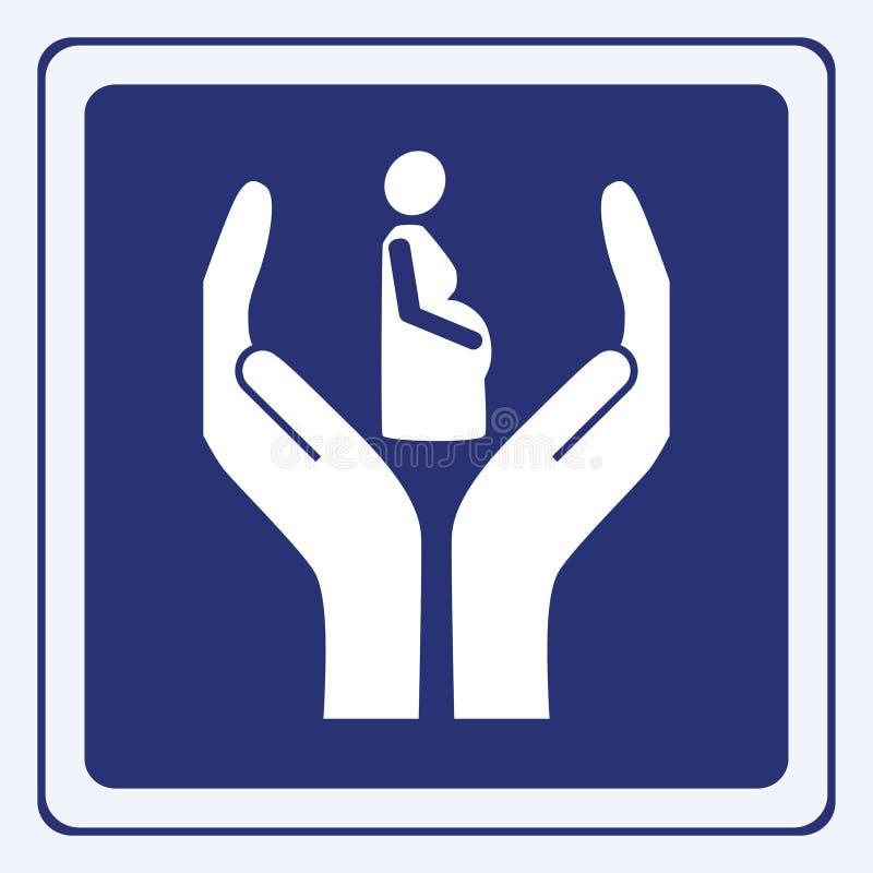 怀孕符号 库存例证