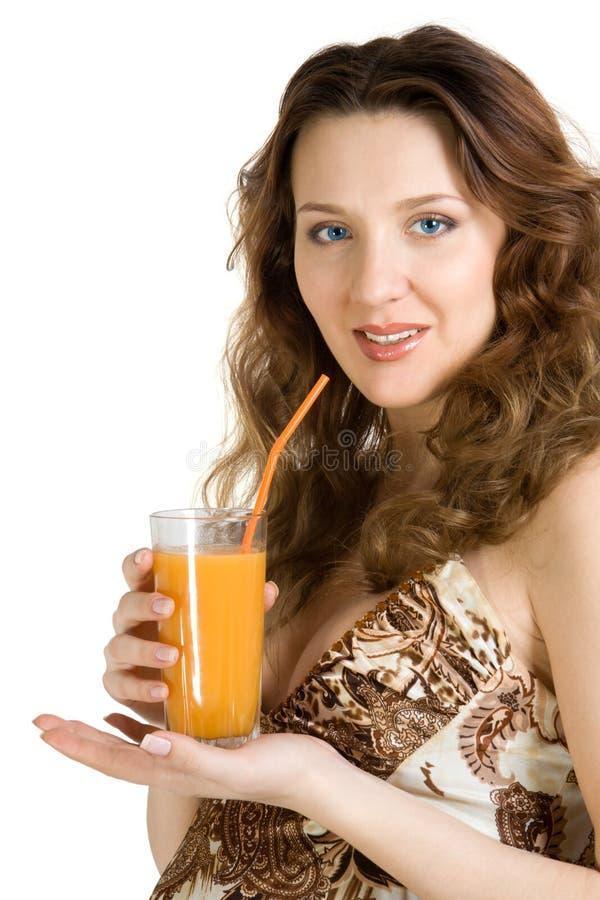 怀孕饮料愉快的汁液 库存照片