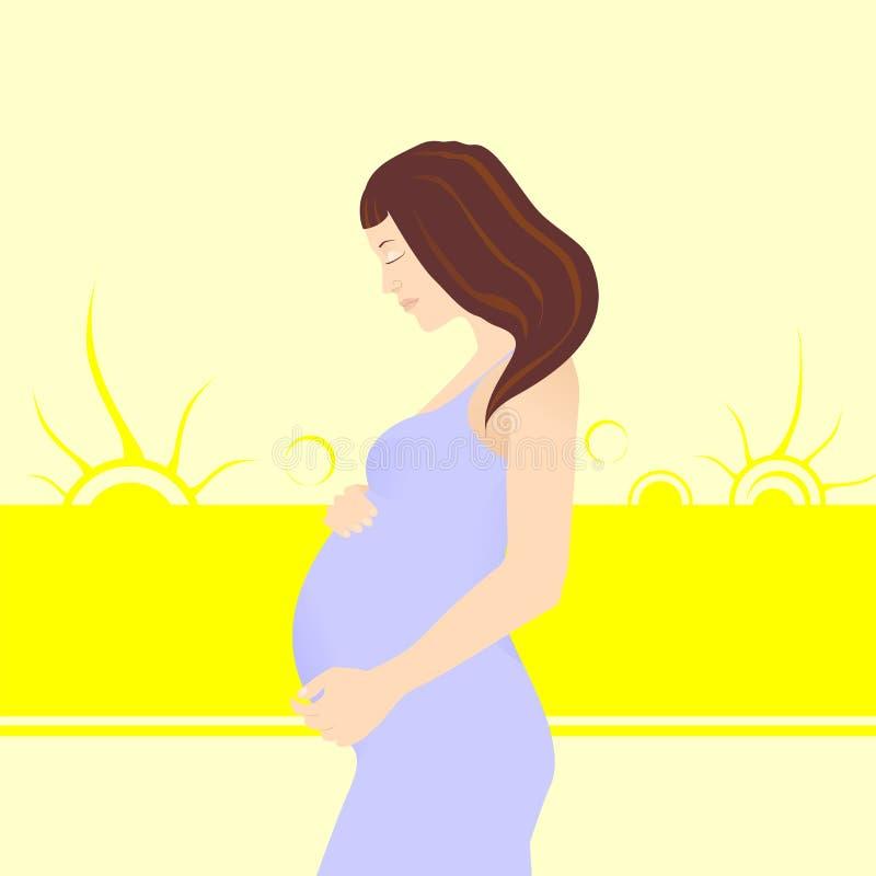 怀孕 皇族释放例证
