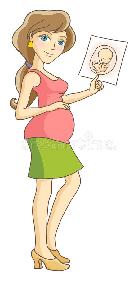 怀孕 库存例证