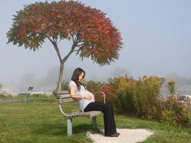 怀孕womam 图库摄影