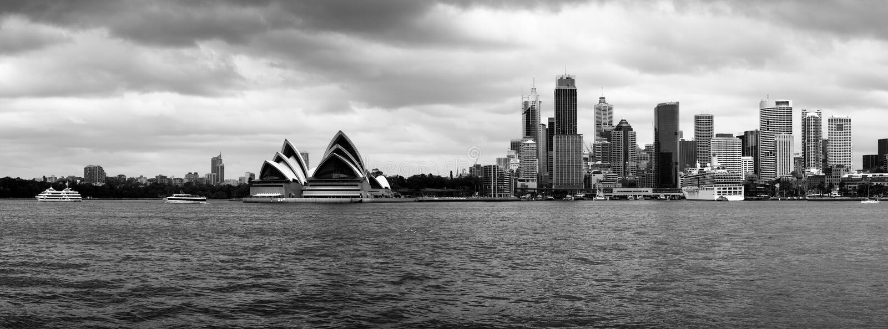 怀有全景悉尼 库存照片