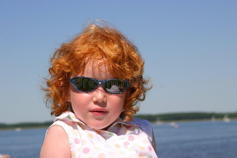 态度少许红头发人 免版税库存照片
