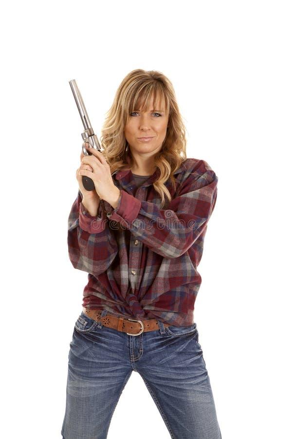 态度枪阻止 免版税库存图片