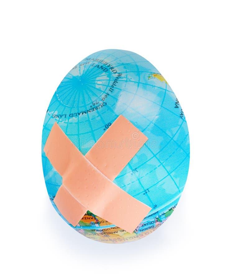 怂恿地球地球,全球性问题的概念地球生态系的  世界保险柜 库存图片
