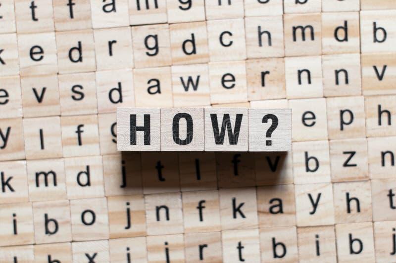 怎么词概念 免版税库存照片