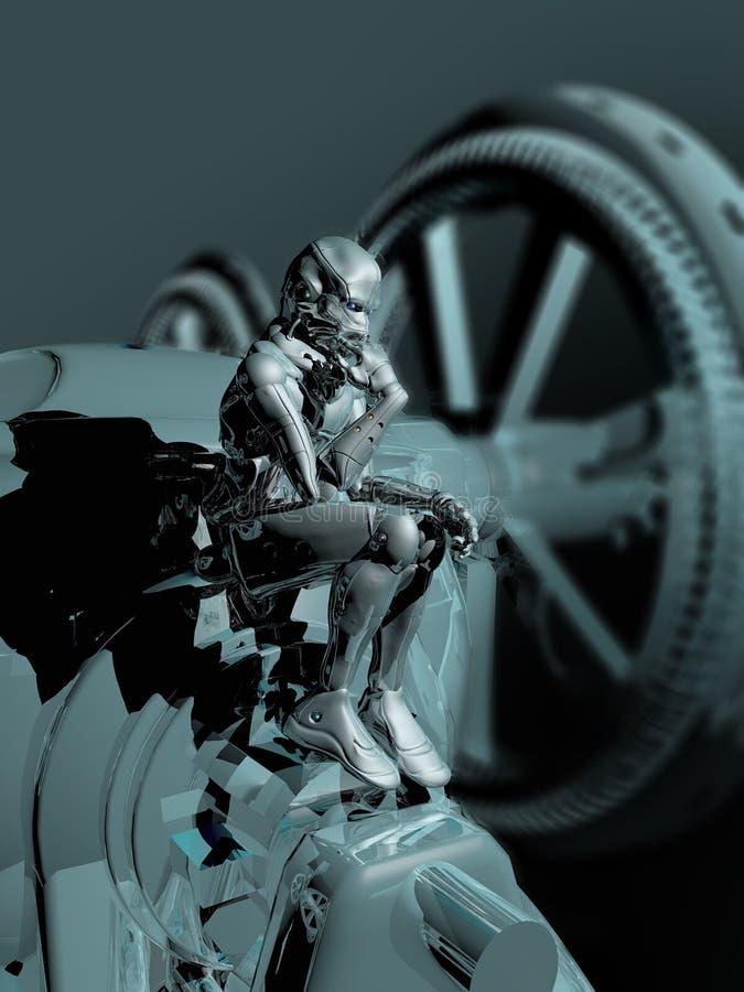 思想家机器人 皇族释放例证