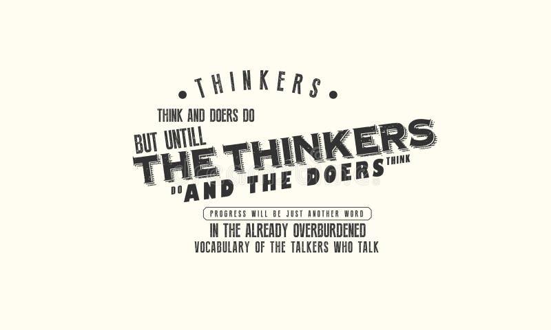 思想家认为,并且实行家 但是,直到思想家做,并且实行家认为 向量例证