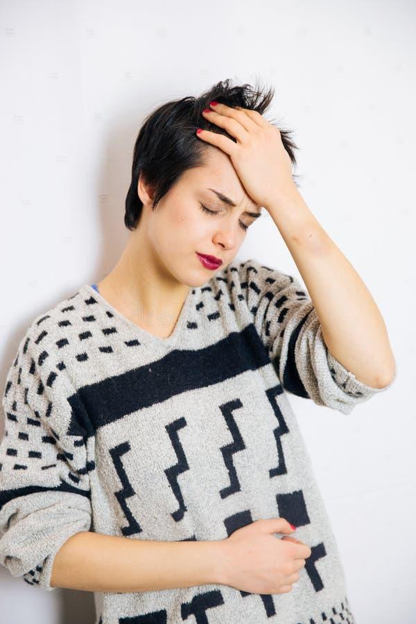急切和沮丧的妇女 免版税库存图片