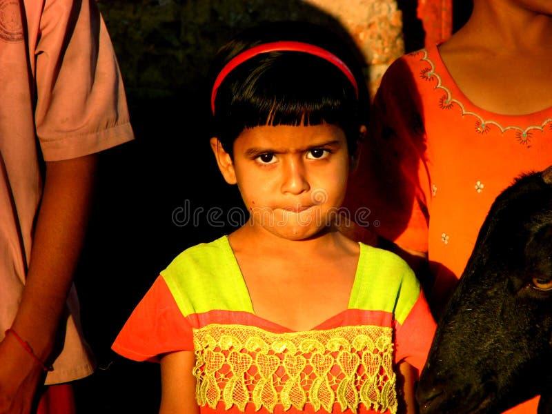 急切女孩印地安人 免版税库存图片