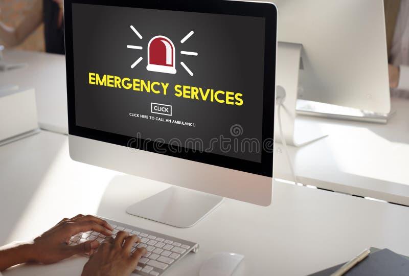 紧急情况服务偶然危机重要风险概念 皇族释放例证