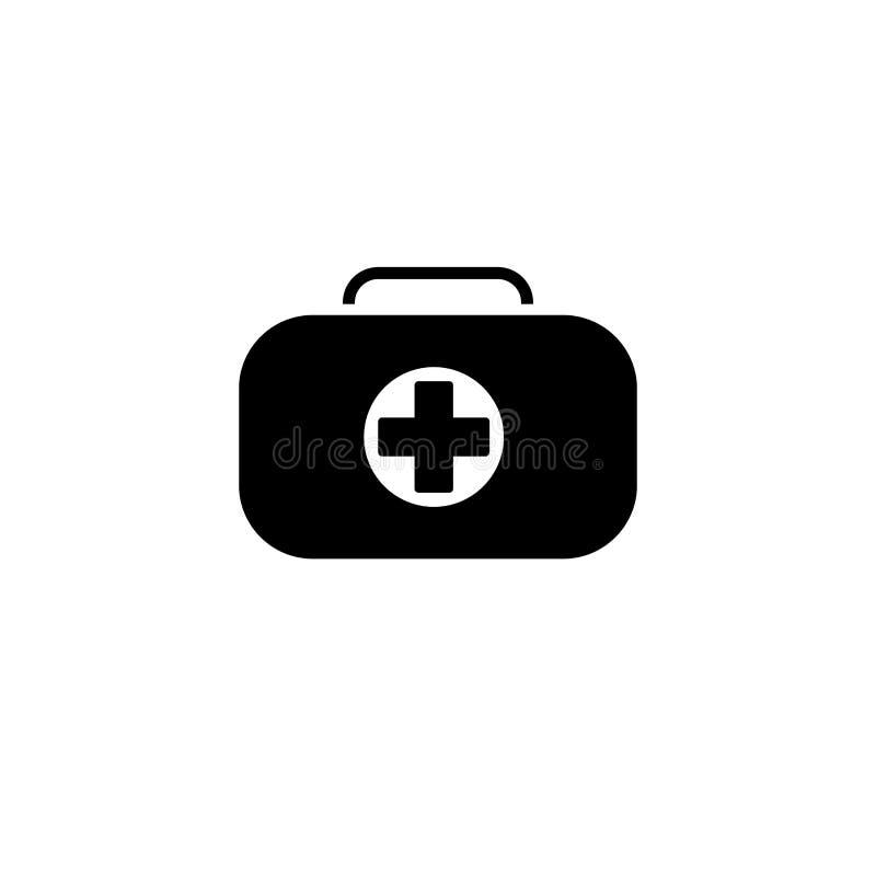 急救工具标志和医疗服务象 平的设计 向量例证