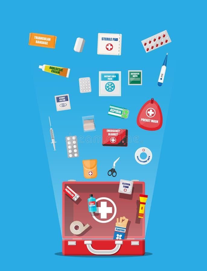急救工具用医疗设备 向量例证